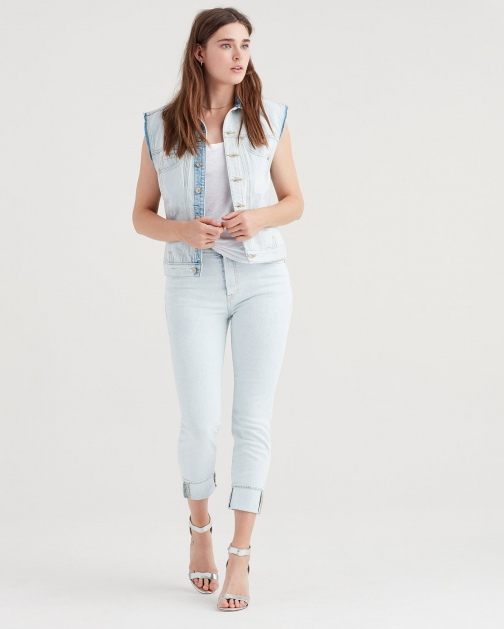 7 For All Mankind Josefina With Single Cloud Bleach Out Cuff