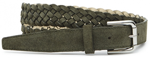 Reiss Giro Suede Plait Belt