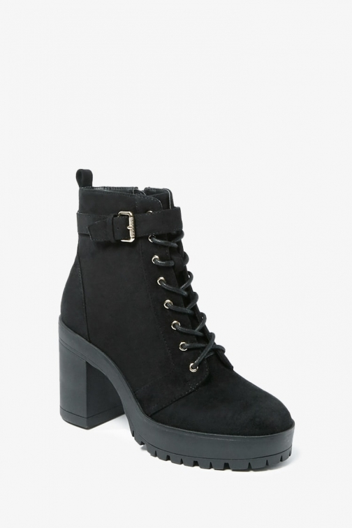 Forever21 Forever 21 Faux Suede , Black Ankle Boot