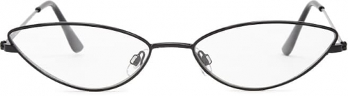 Forever21 Forever 21 Metal Cat-Eye Readers , Black/clear Eyewear