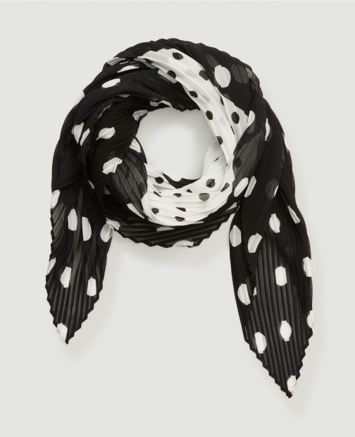 Ann Taylor Factory Dotted Pleated Scarf