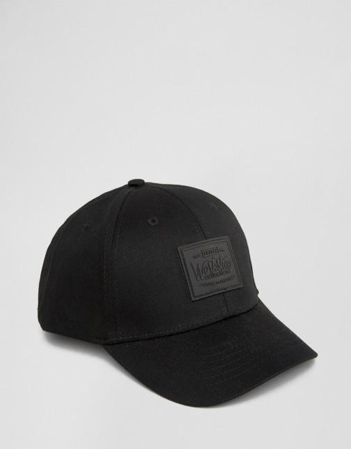 Asos Artsac Workshop Baseball Black Cap