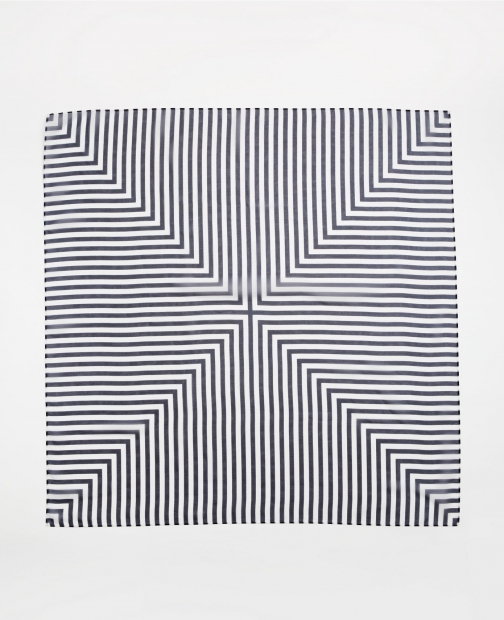 Ann Taylor Factory Striped Pleated Square Scarf