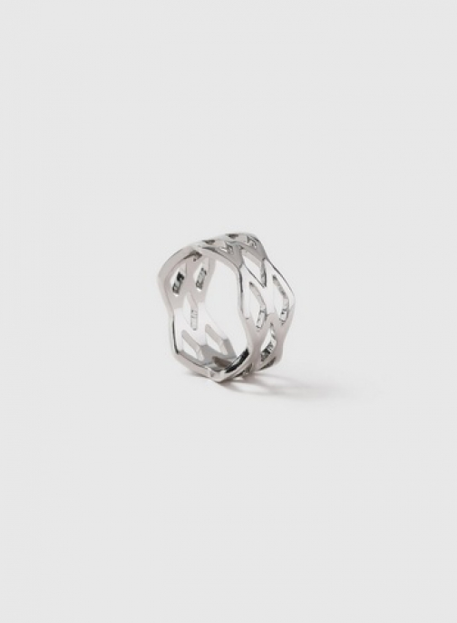 Dorothy Perkins Silver Zig Zag Band Ring