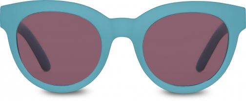 Toms Traveler By TOMS Florentin Matte Marine Blue With Violet Lens Sunglasses