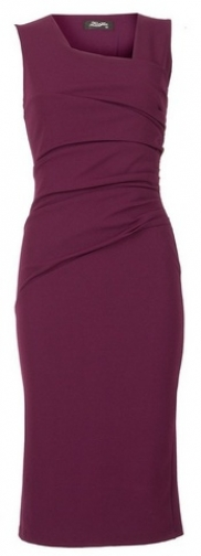 Dorothy Perkins Womens *Feverfish Berry Pleat - Berry, Berry Bodycon Dress