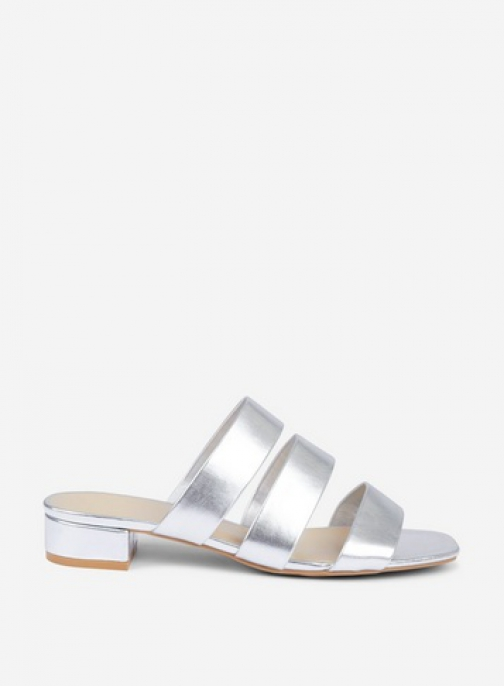 Dorothy Perkins Wide Fit Silver 'Stormy' Sandals