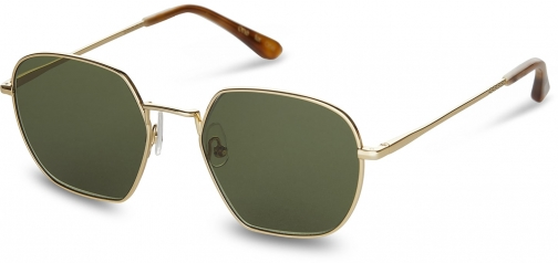 Toms Sawyer Shiny Gold Green Lens With Glass Bottle Green Lens Sunglasses