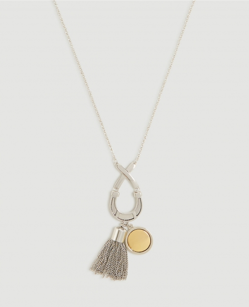 Ann Taylor Equestrian Tassel Pendant Necklace