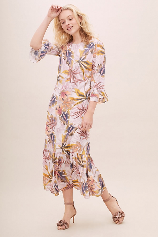 Kachel Bianca Printed Maxi Dress