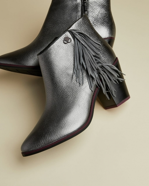 Ted Baker Metallic Fringe Ankle Boot