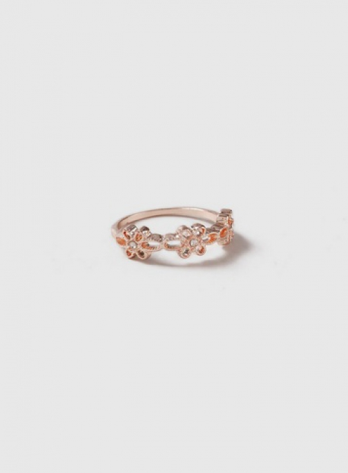 Dorothy Perkins Rose Gold Flower Band Ring