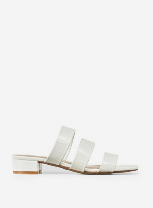 Dorothy Perkins Wide Fit White 'Stormy' Sandals