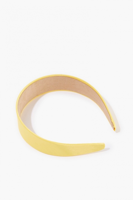 Forever21 Forever 21 Faux Leather Headband , Yellow Headwear