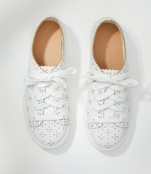 Loft Eyelet Lace Up Sneakers Trainer
