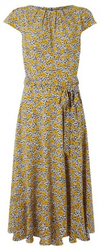 Dorothy Perkins Womens **Billie & Blossom Tall Multi Colour Floral Print Fit And Flare - White, White Dress
