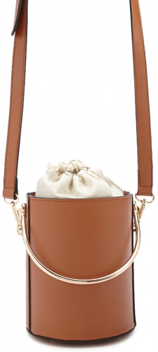 Forever21 Forever 21 Faux Leather , Brown Satchel