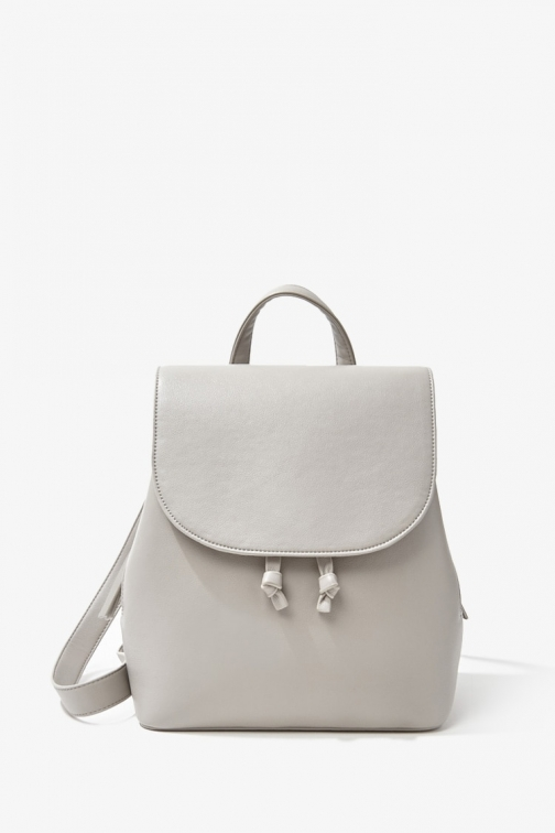 Forever21 Forever 21 Faux Leather , Grey Backpack