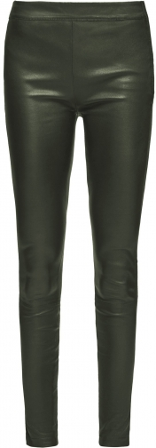 Reiss Goldie - Leather Green Moss, Womens, Size 14 Legging