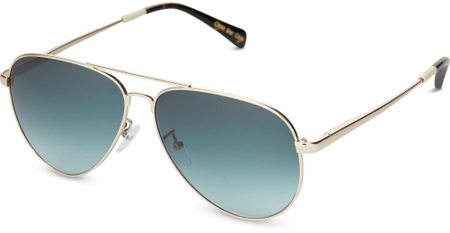 Toms Maverick 301 Shiny Gold With Turquoise Gradient Lens Sunglasses