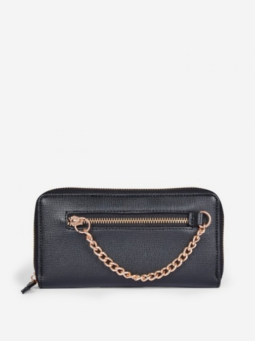 Dorothy Perkins Black Chain Zip Front Purse