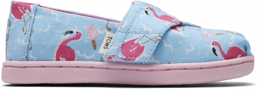 Toms Flamingo Party Glitter Watermelon Canvas Tiny TOMS Classics Slip-On Shoes