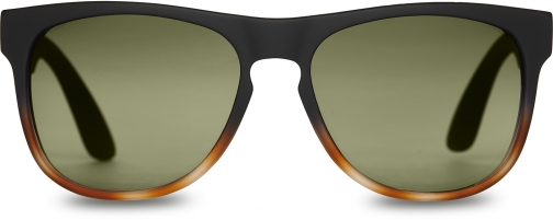 Toms Manu Matte Black Brown Fade Polarized With Green Polarized Lens Sunglasses