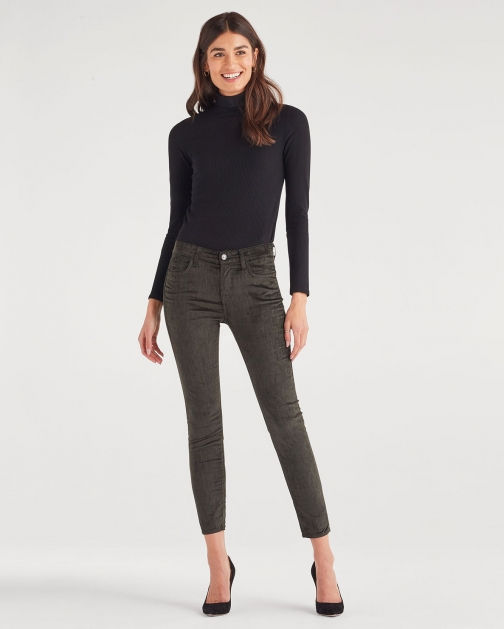 7 For All Mankind Women's Ankle Skinny Evergreen Trouser