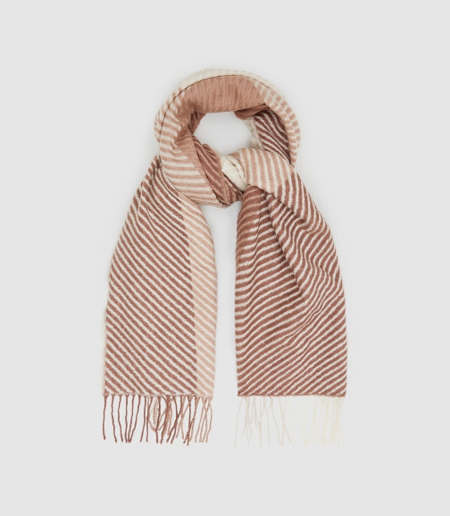 Reiss Bailey - Lambswool Checked Rose, Womens Scarf