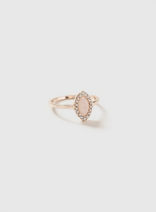 Dorothy Perkins Rose Gold And Pink Cocktail Ring