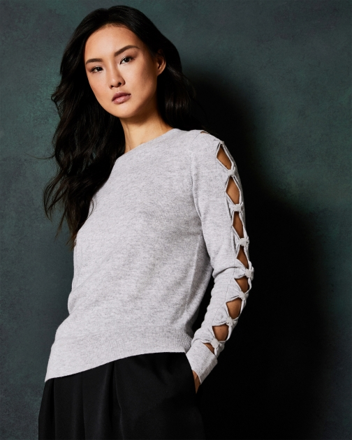Ted Baker Cut-out Bow Sleeve Jumper