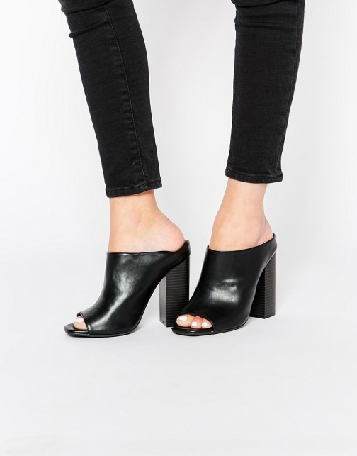 Missguided Block Heeled Mules