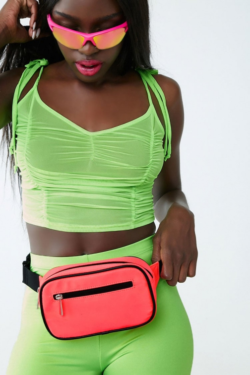 Forever21 Forever 21 Neon Square Neon Pink Fanny Pack