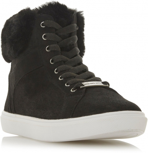 Head Over Heels Ello Faux-Fur Trim High Top Trainer