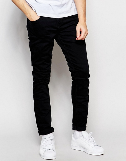 Scotch & Soda Black Wash Skinny Jeans