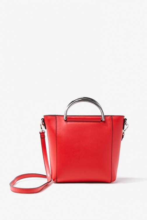Forever21 Faux Leather Bag At Forever 21 , Red Tote