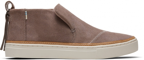 Toms Taupe Gray Suede Women's Paxton Slip-Ons Shoes