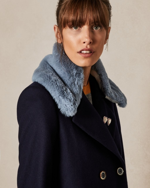 Ted Baker Faux Fur Collar