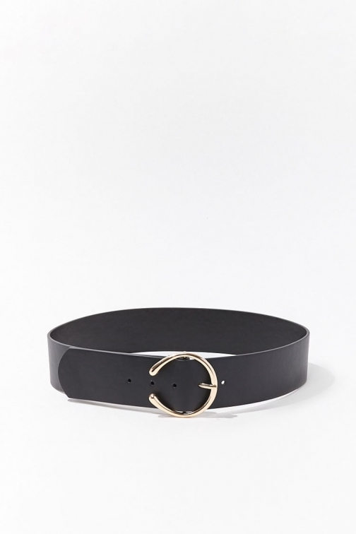 Forever21 Forever 21 Faux Leather Waist , Black Belt