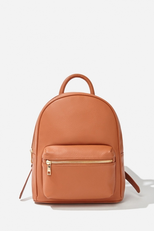Forever21 Forever 21 Faux Leather , Tan Backpack