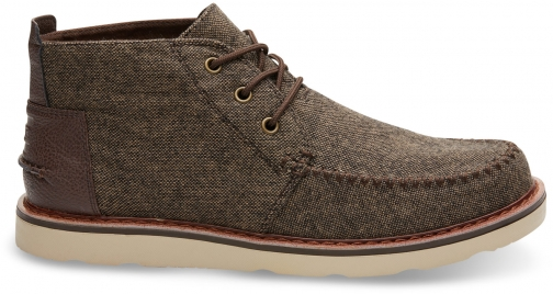 Toms Brown Brushed Wool Men's Chukka - Size UK7 / US8 Boot
