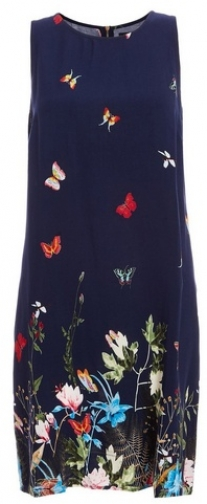 Quiz Blue Butterfly Print Tunic Dress