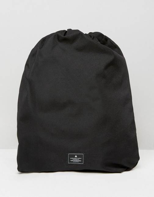 Asos Drawstring Black Backpack