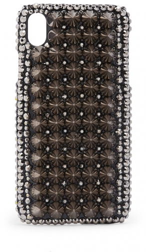Forever21 Forever 21 Spiked Studded Phone For IPhone XR Silver Case