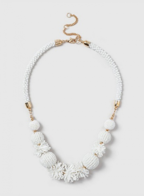 Dorothy Perkins Cream Bead Collar Necklace