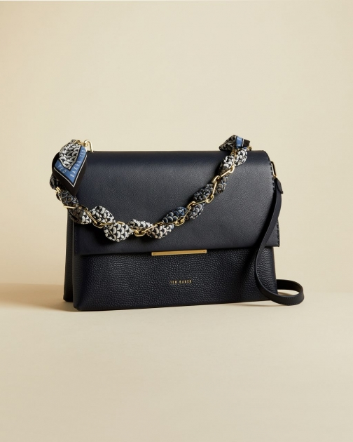 Ted Baker Leather Chain Bar Detail Shoulder Bag