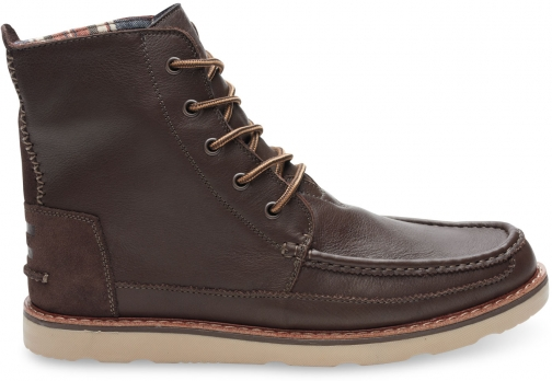 Toms Chocolate Brown Full Grain Leather Men's Searcher Boot