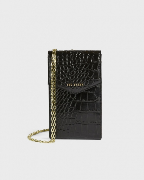 Ted Baker Imitation Croc Printed Phone Pouch