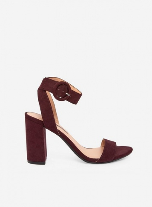 Dorothy Perkins Burgundy 'Binkie' Heeled Sandals