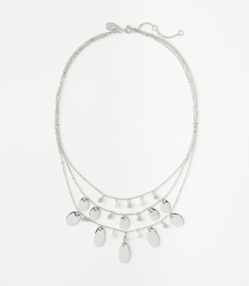 Loft Pearlized Layered Necklace